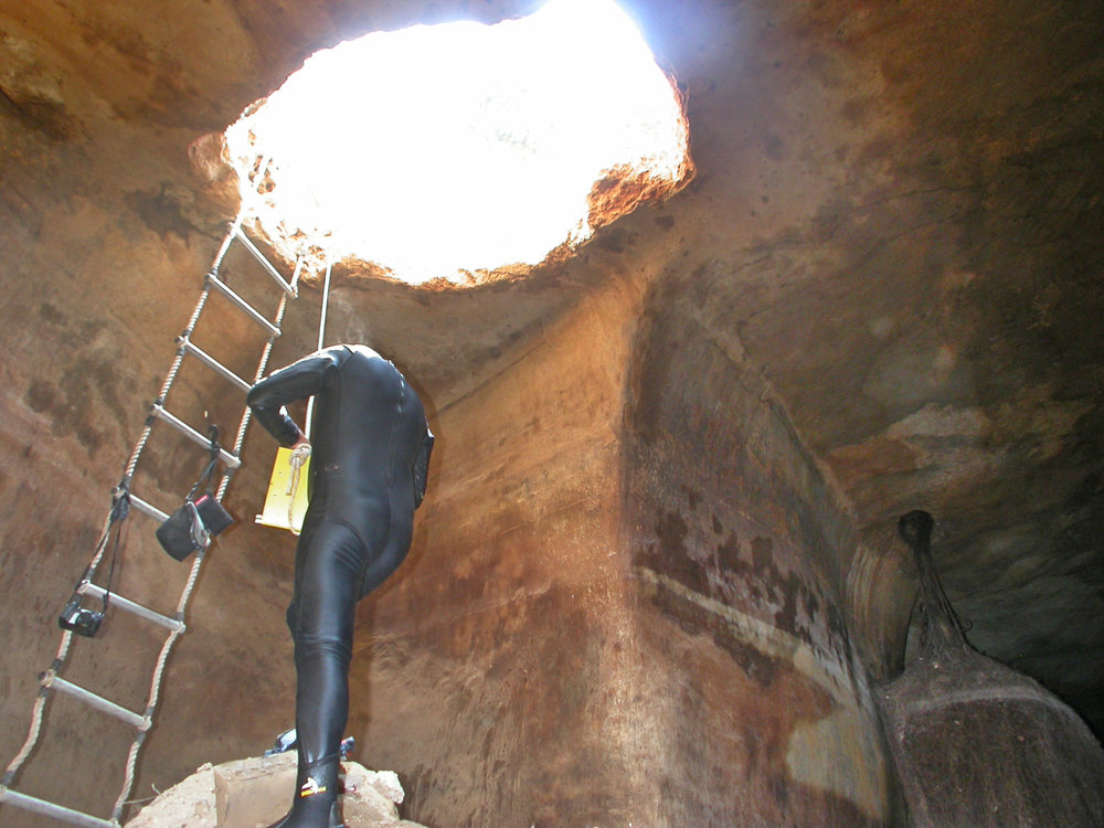 The 2005 cistern exploration