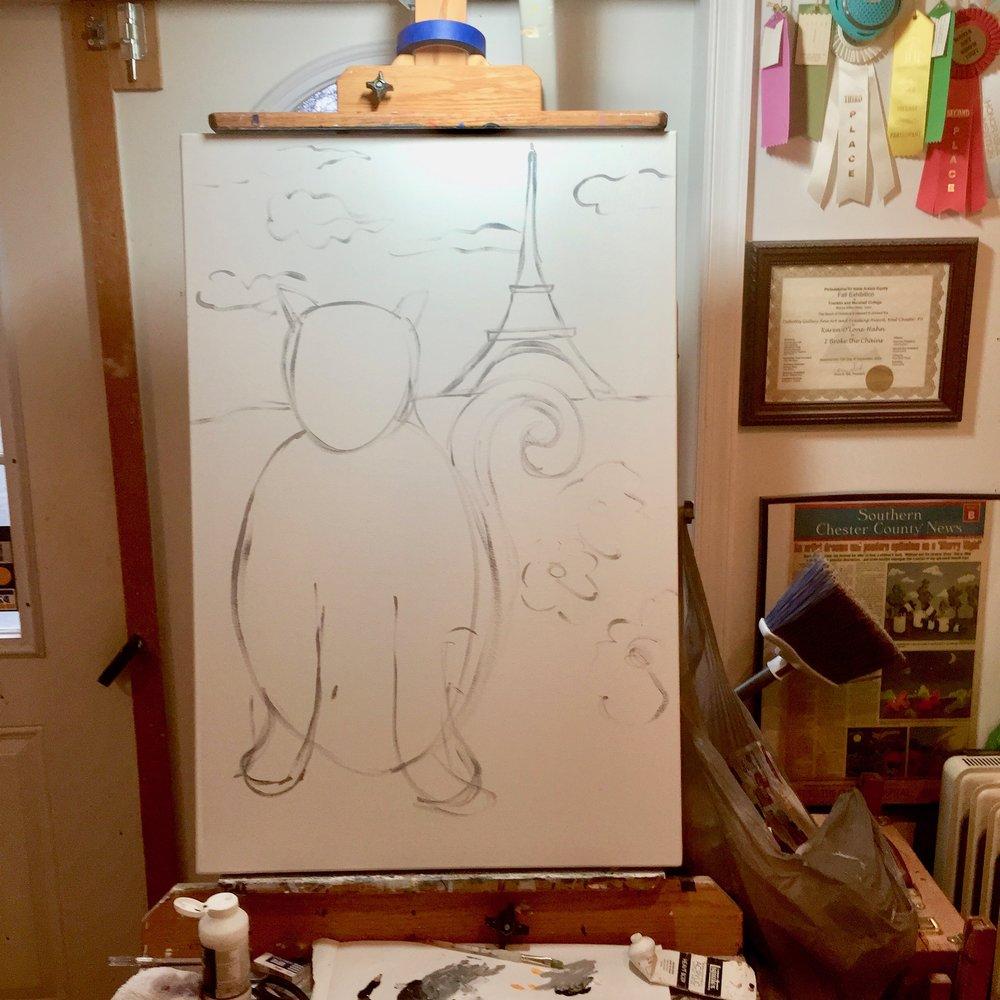 Paris Cat sketch