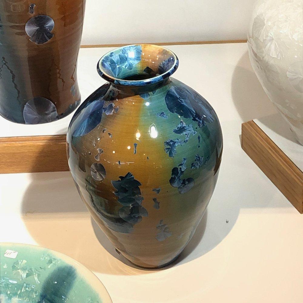 Crystalline glazed vase by Phil Morgan