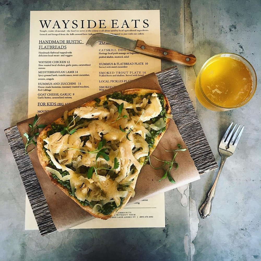 - Enjoy a lovely meal at Wayside Ciders taproom and try their excellent hard cider.