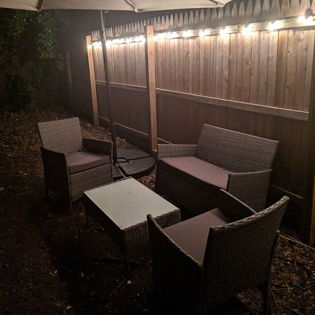I'm really happy about how my backyard is turning out.