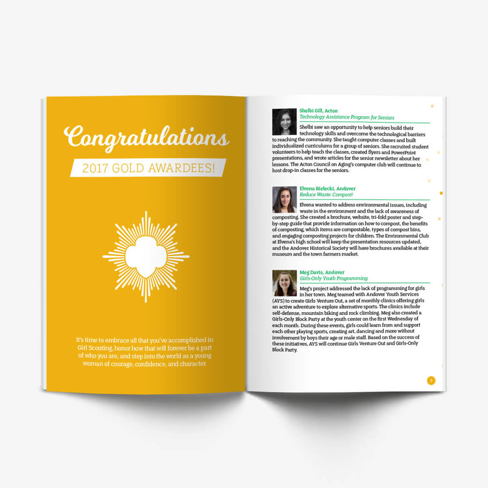 """Girl Scout Gold Award"" Booklets"