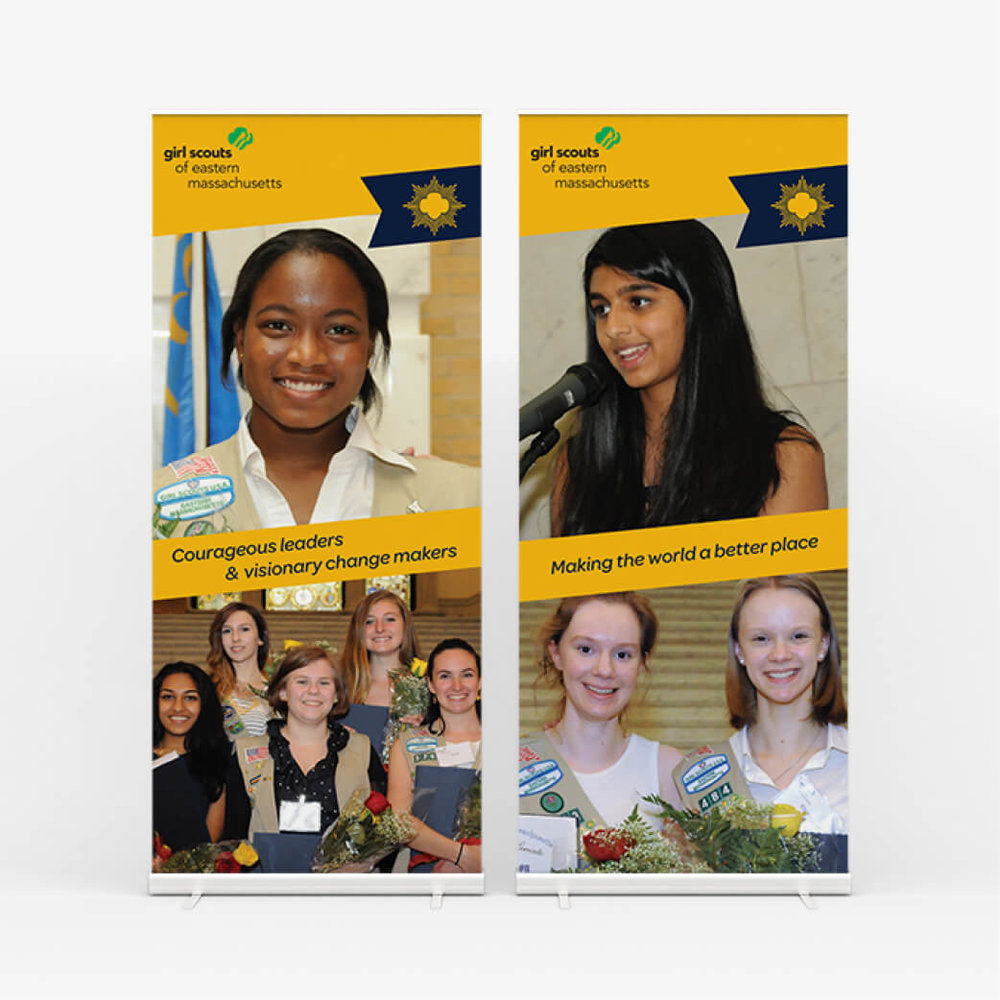 """Girl Scout Gold Award"" Retractable Banners"