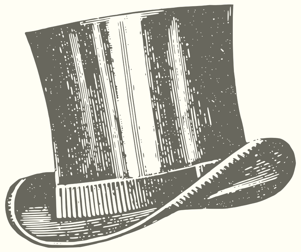 Vintage illustration of a gentleman's top hat.png