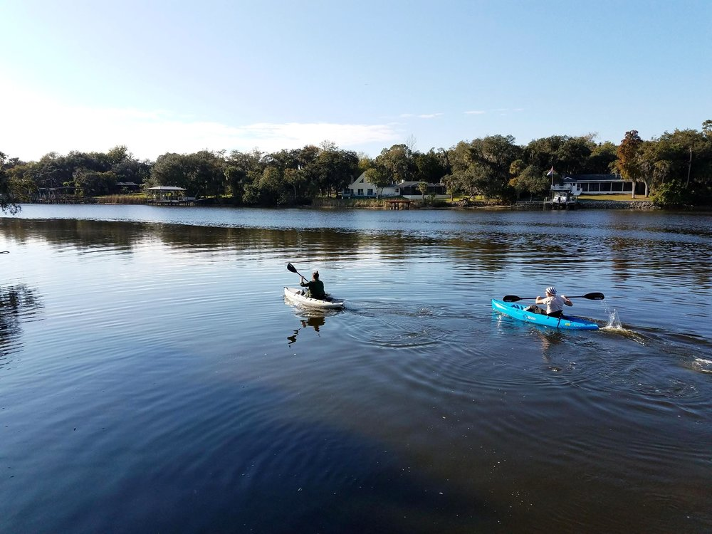 Family enjoying the kayaks on the Alafia River!