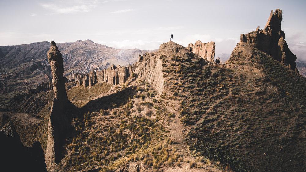 Somewhere in the hills around La Paz