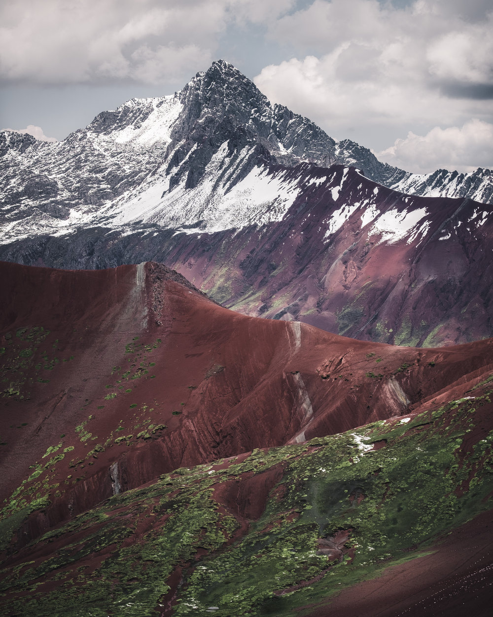 "Mountain above the ""red valley"" 