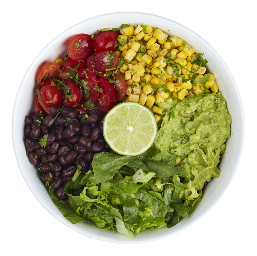 The Mexican Bowl  - $10.50  Rice blend, guacamole, pico de gallo, black beans, romaine, cilantro, lime, corn