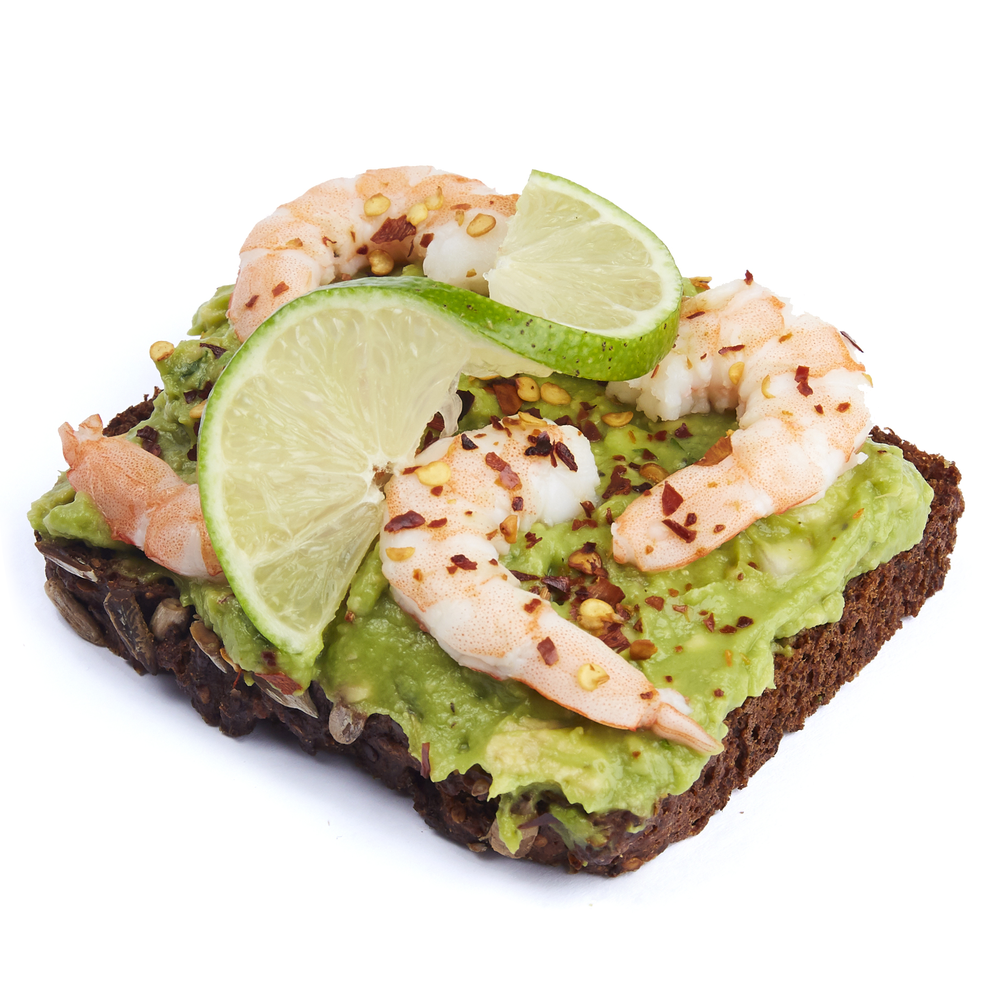 Guacamole with shrimp and chili flakes  - $11.99