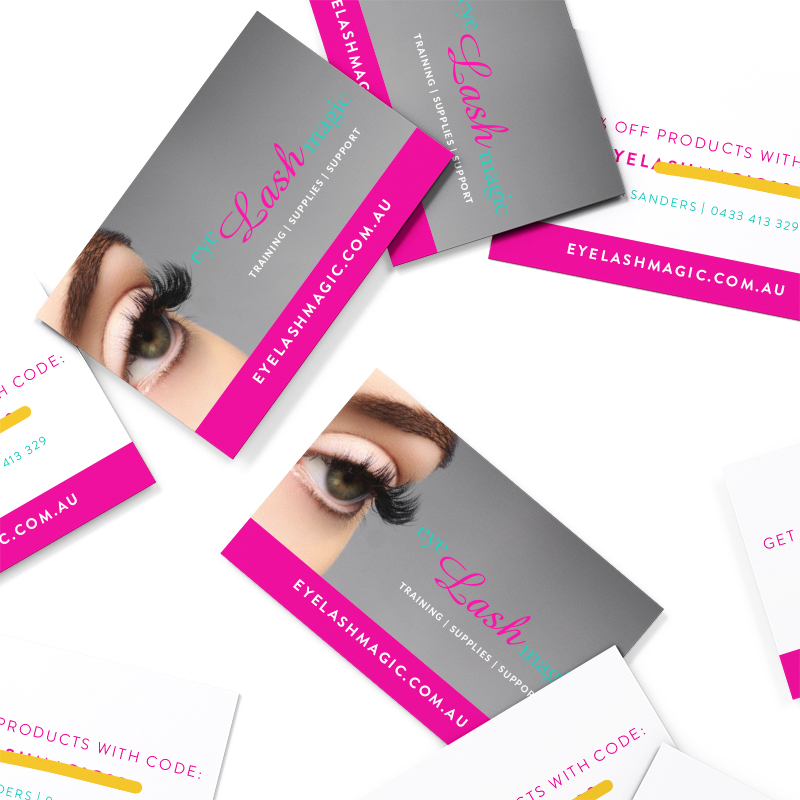 eye Lash magic Discount Cards