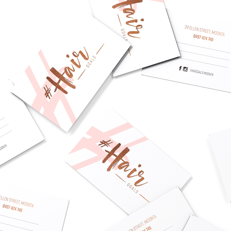 Hair Goals Business Cards