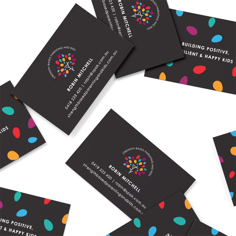 Strength-based Parenting & Kids Business Cards