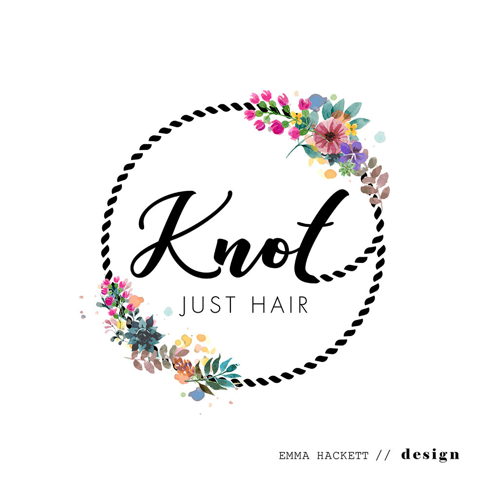 Knot Just Hair Logo Design