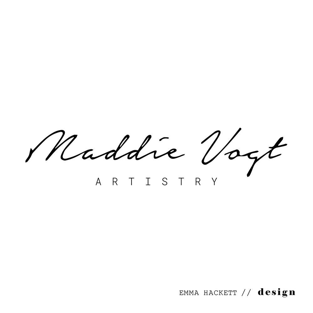 Maddie Vogt Artistry Logo Design