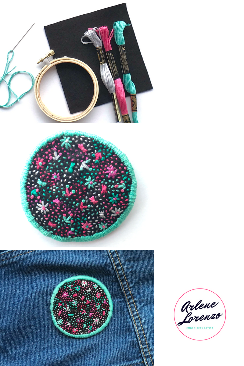 hand embroidered patch tutorial