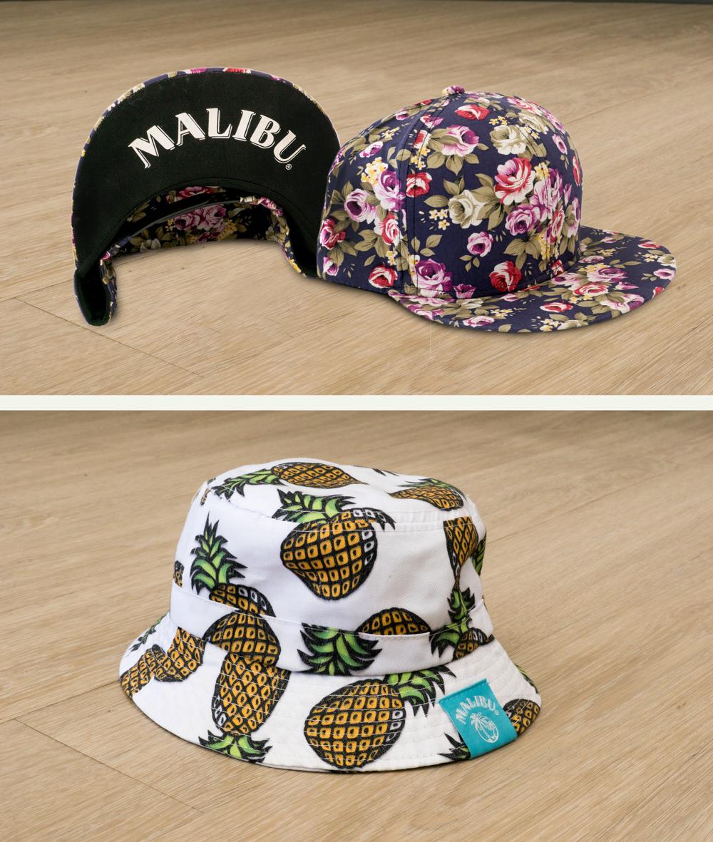 Malibu Floral Caps
