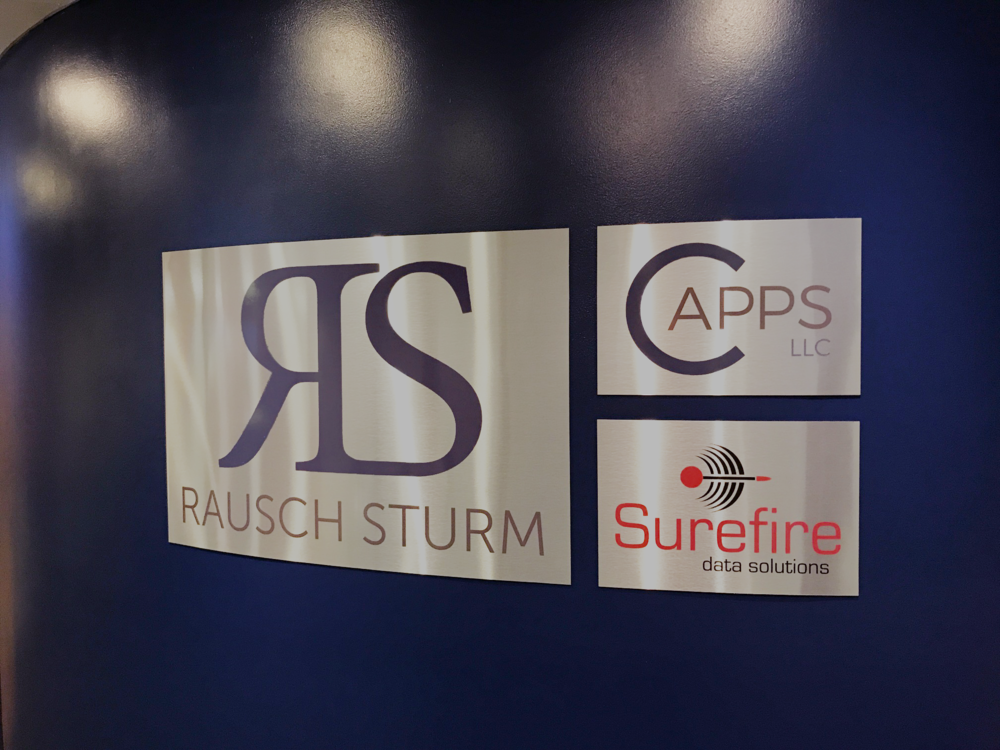 Rausch Sturm Office Signage