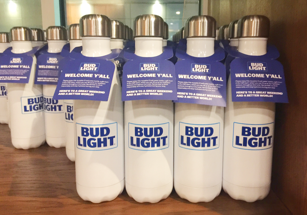 Bud Light Super Bowl Bottles