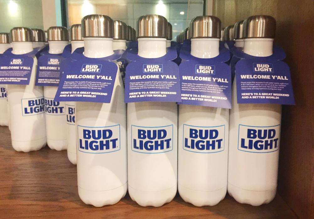 Bud Light Super Bowl Bottles