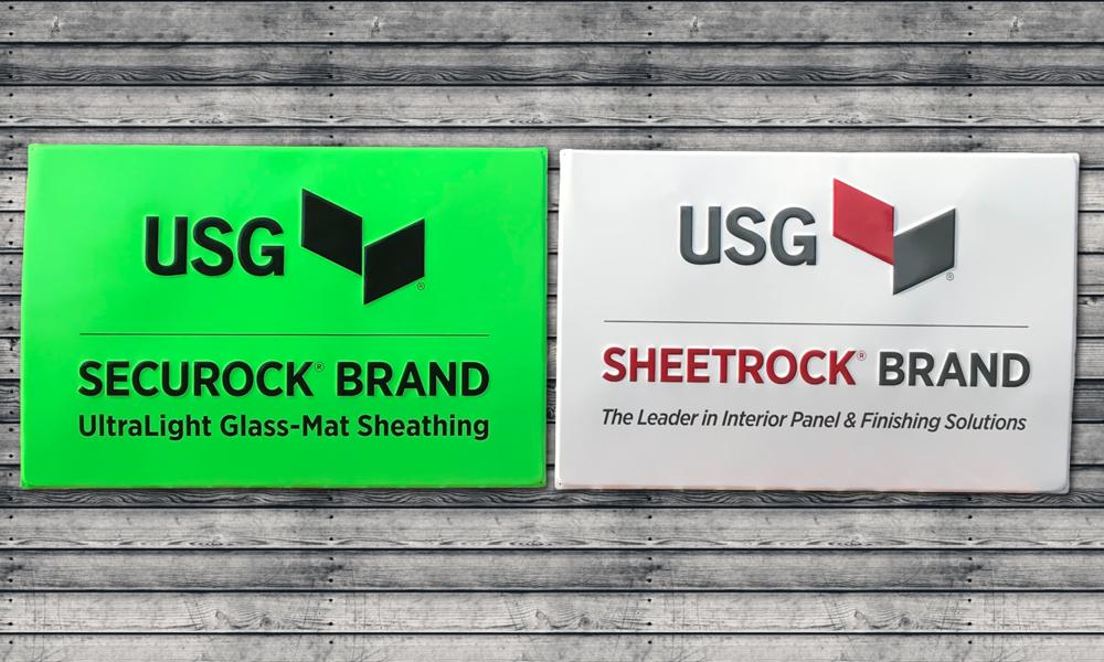 USG Aluminum Signage