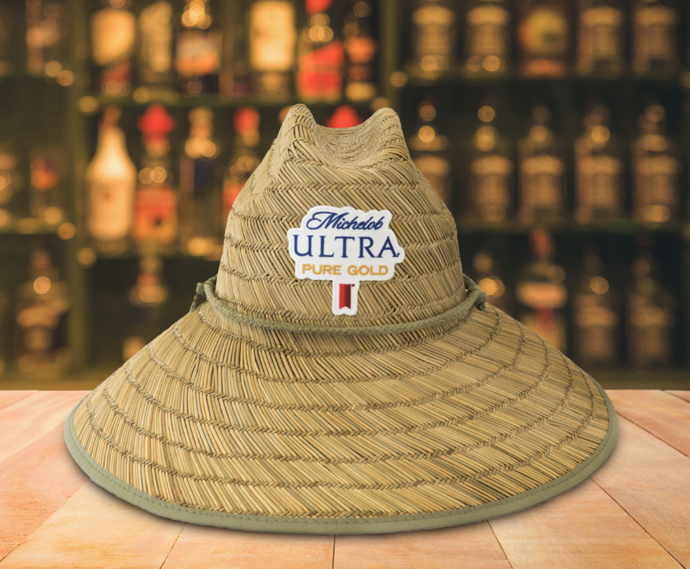 Michelob Ultra Pure Gold Straw Hat