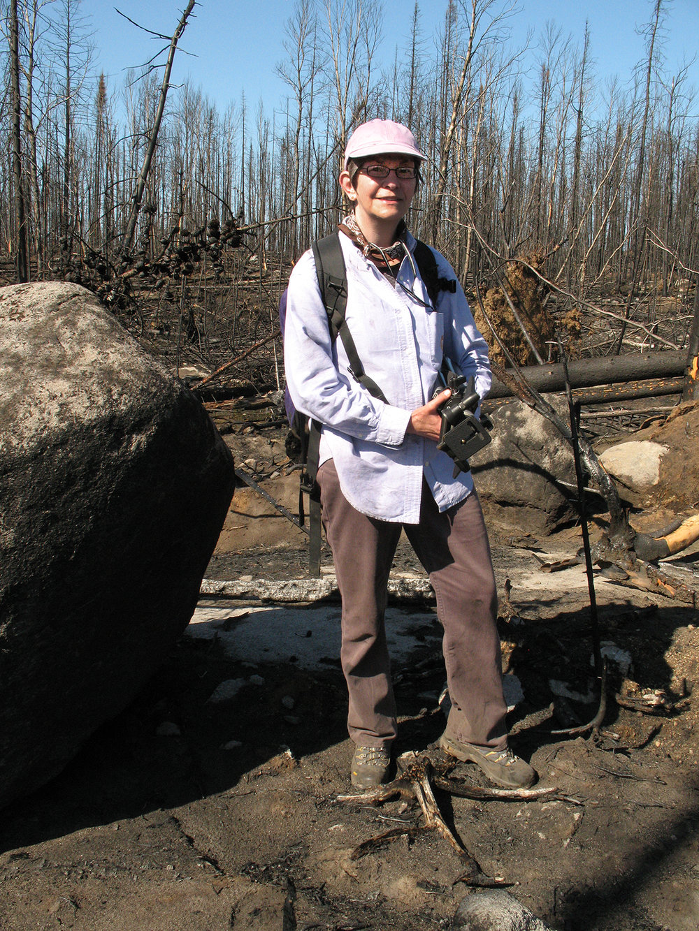Regina Flanagan in the Pagami Fire Area