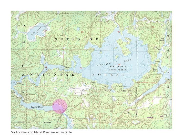 Pagami Creek Fire Map.Field Report Pagami 1