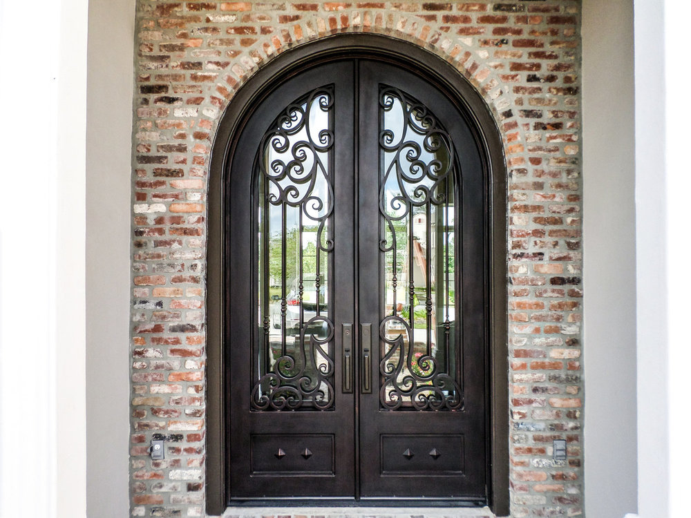 Custom Designed, Hand Forged Wrought Iron Door in Los Angeles, California