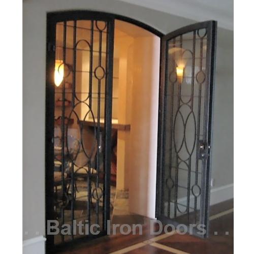 Custom Designed, Hand Forged Wine Cellar Iron Door in Irvine, California