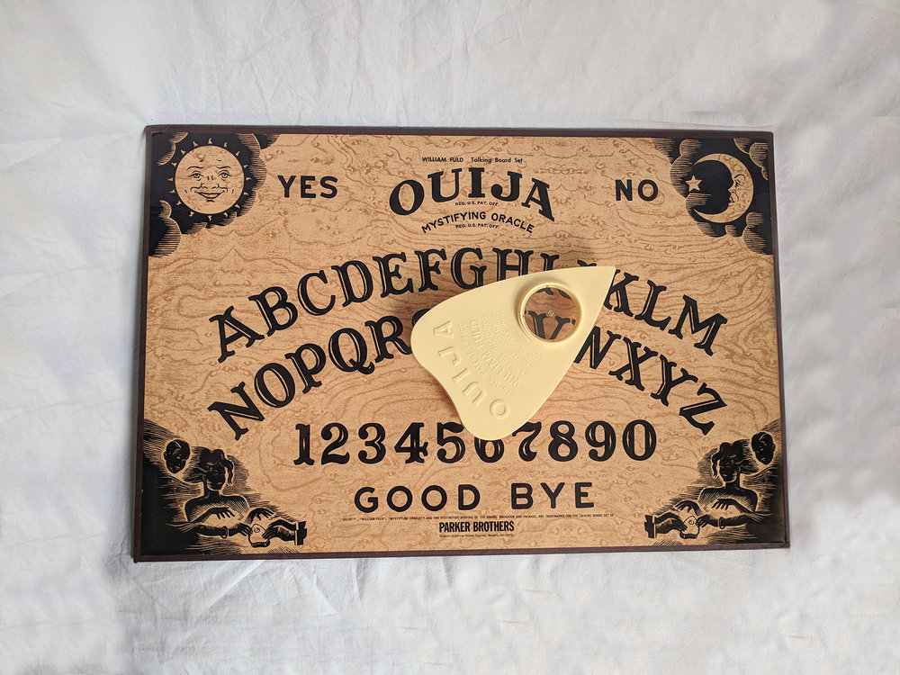 1972 Parker Brothers Ouija board - I've been making Ouija boards based on this design for a few years but have never owned one myself until recently