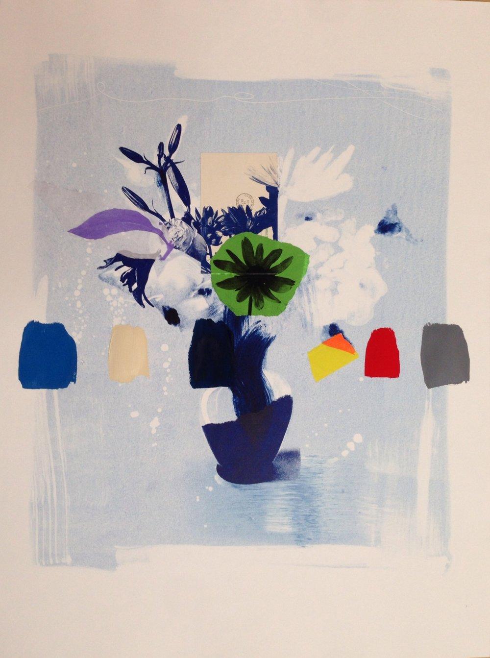 Indigo Bouquet (green flower) - 22x30.JPG