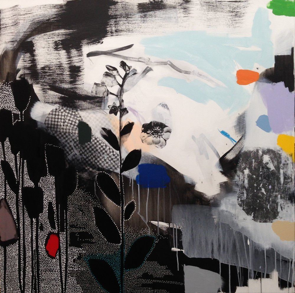 Dreamscape (black + white + rainbow) III - 48x48.JPG