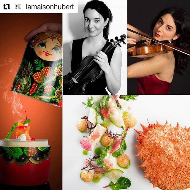 Nos deux musiciennes Elodie Bugni et Noémie Bialobroda vous  régalerons par leur musique lors du Carpe Diem de @lamaisonhubert le 6 octobre! Un spectacle à ne pas manquer! Reservations : https://rebrand.ly/lamaifc155  #violin #geneva #geneve #musique #spectacle #gastronomie #classicalmusic #musiqueclassique #musique #suisseromande