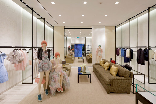 A glimpse inside the Ready-To-Wear area at the Perth Chanel boutique. Source: Instyle Magazine