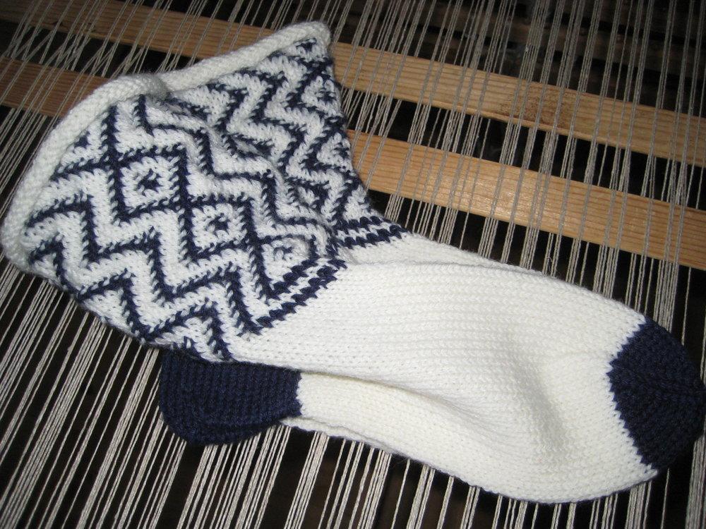 Sikksakk-sokken i Rauma PT5 garn. Kristi Skintveit Copyright 2016. Bono.JPG