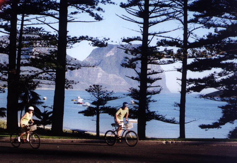 Lord Howe Island with Bicycles 2002