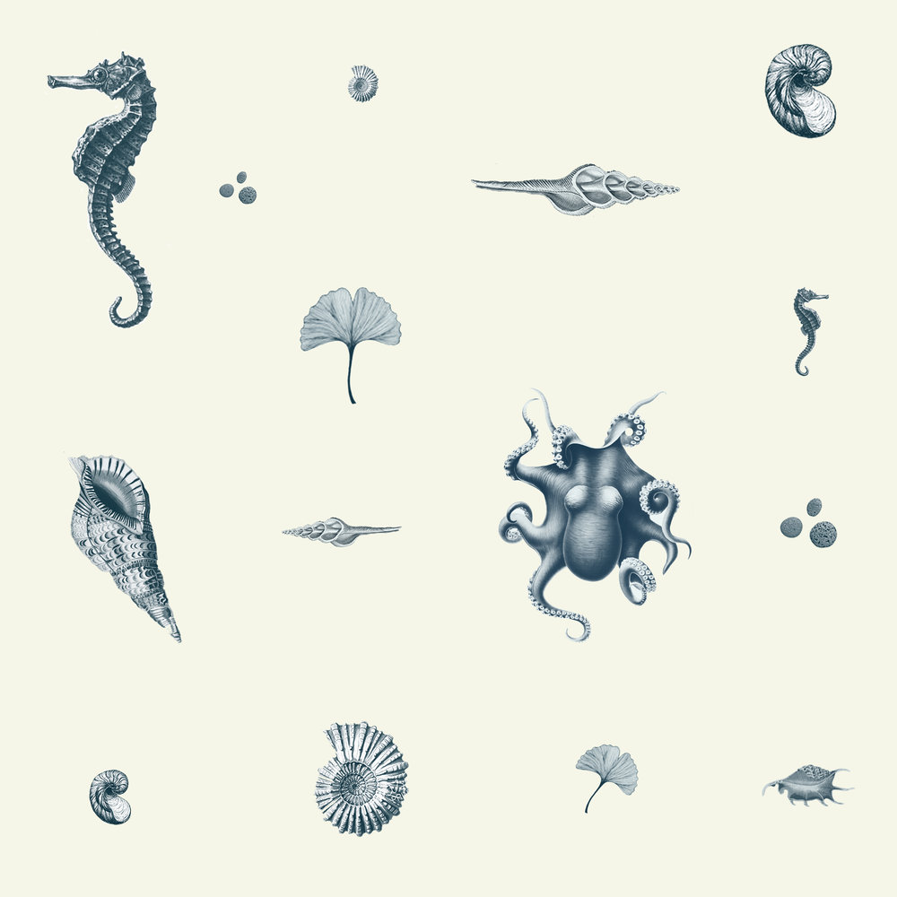 Pattern design for an organic beauty products brand.