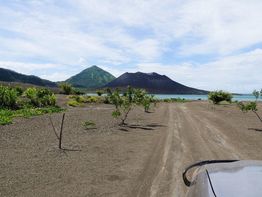Much of old Rabaul remains decimated by ash.