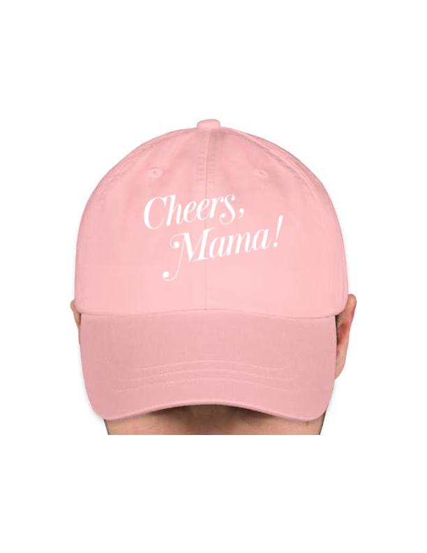 Light Pink Baseball Cap — Cheers Mama! cb11c89b5ed