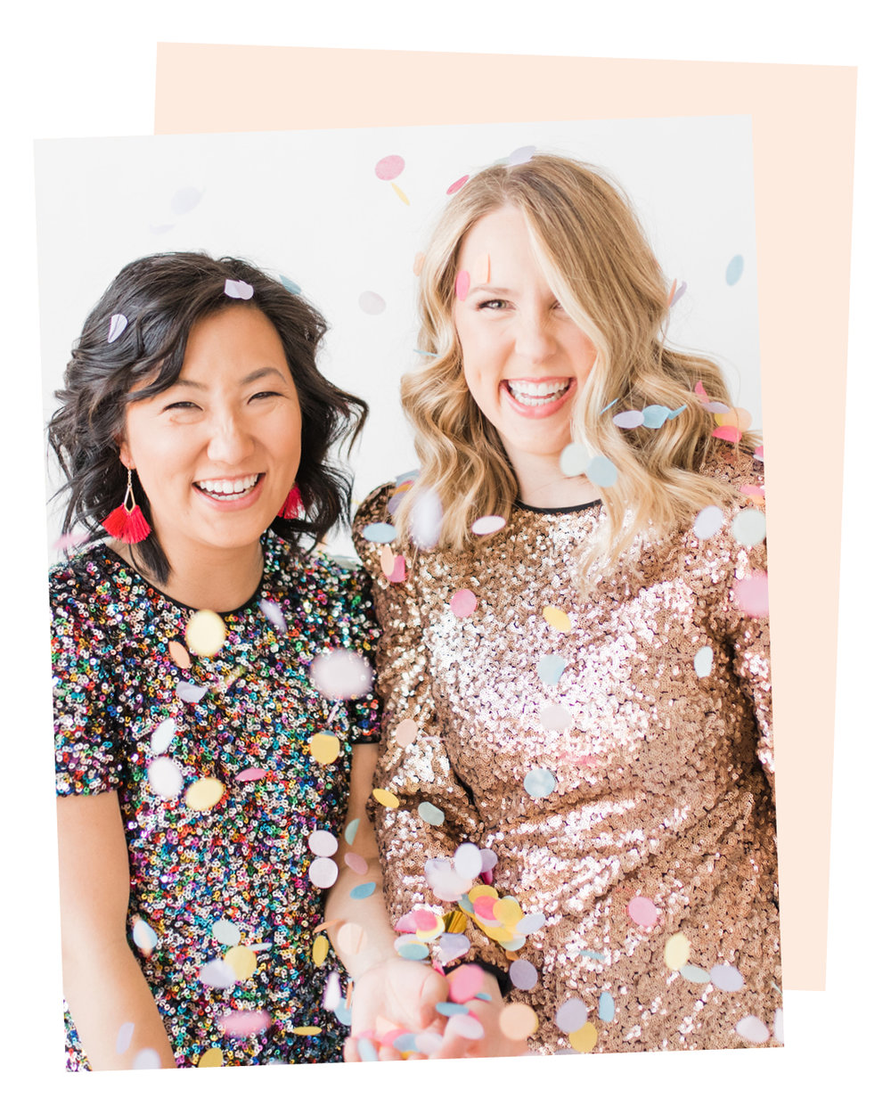 hey there! - We are Abbey and Hannah, two friends and mamas who believe it takes a village and invite you to be a part of ours.