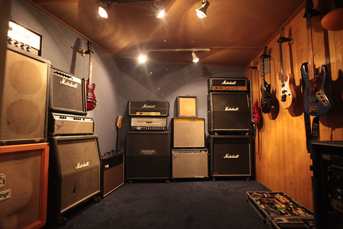 Studio 1 - Photography. Westland Studios. Guitar Room. Amps. Music. Dublin, Ireland
