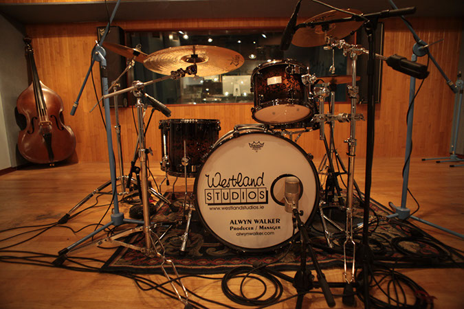 Studio 1 - Photography. Westland Studios.Live Room Drum Kit. Music. Dublin, Ireland