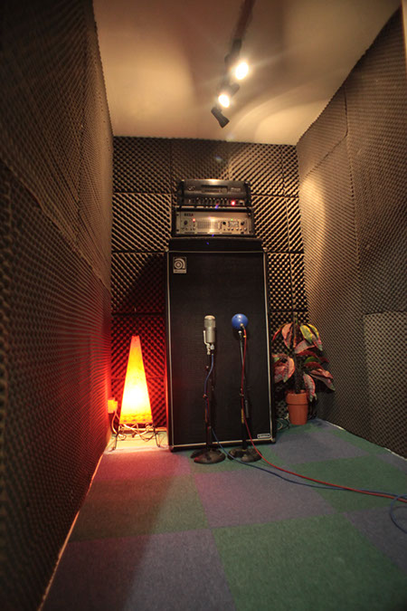 Studio 1 - Photography. Westland Studios. Bass Amplifier Booth. Music. Dublin, Ireland