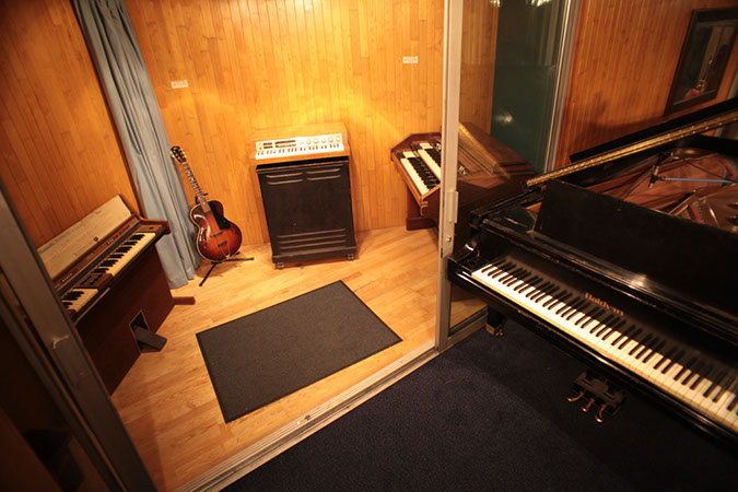 Studio 1 - Photography. Westland Studios. Triangle Booth and Piano. Music. Dublin, Ireland