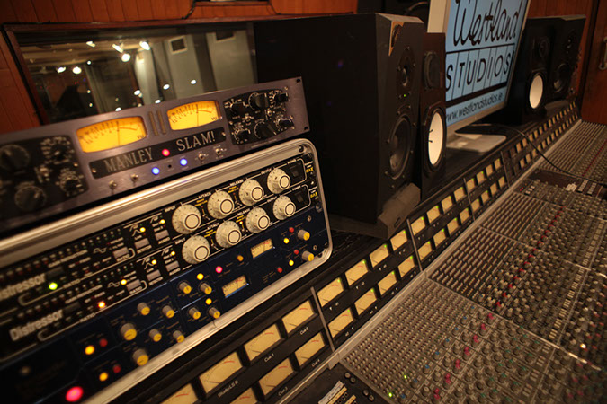 Studio 1 - Photography. Westland Studios. Control Room Outboard and Monitors. Music. Dublin, Ireland