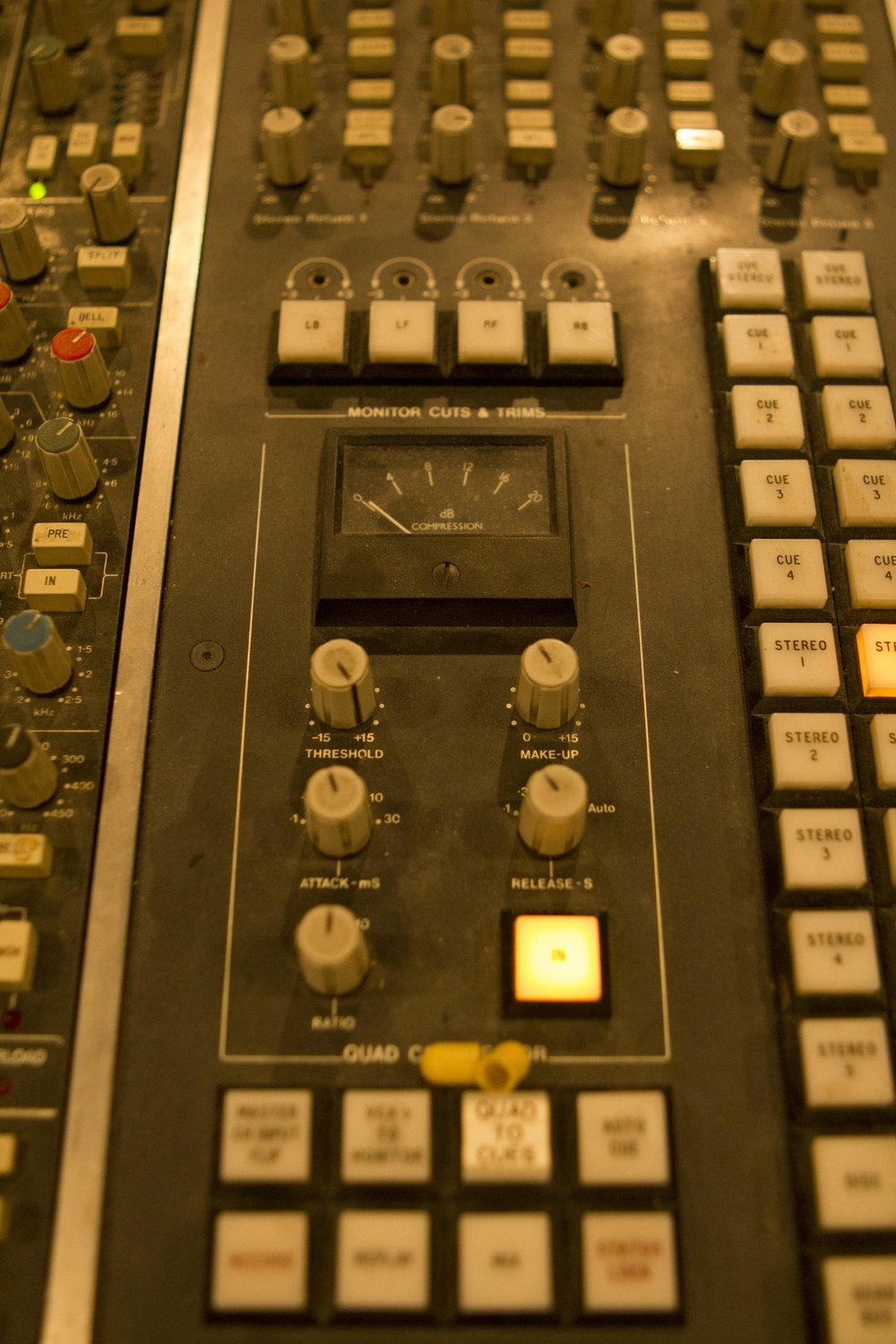 Studio 1 - Photography. Westland Studios. SSL 4000E Console. Master Bus Compression. Music. Dublin, Ireland