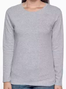 Gray Ladies Long Sleeve T-Shirt.JPG