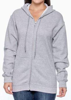 Gray Unisex Zip Up Hoodie.JPG