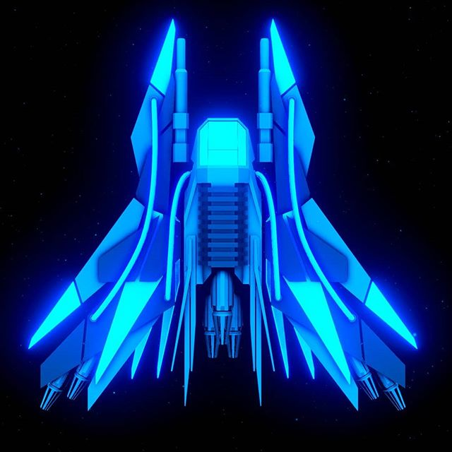 Introducing the J-SSY Starfighter - your companion through the drone-infested remains of the empire.  Our Nation's Miner overhaul - coming Q2 2018.  Visit lordbytesworth.net for more information.  #indie #gamedev #unity3d #scifi #retro #arcade #b3d #spaceship #blue #cool