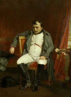La fin d'un rêve, Napoléon à Fontainebleau en 1814, une année avant la défaite finale de Waterloo, à l'âge de 45 ans